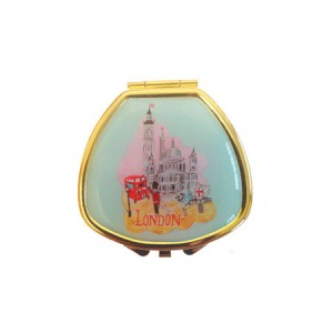 "Andrea Garland Lip Balm in City Scenes Pill Box with mirror – London Бальзам для губ в футляре ""Лондон"""