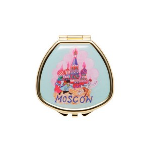 "Andrea Garland Lip Balm in City Scenes Pill Box with mirror – Moscow Бальзам для губ в футляре ""Москва"""