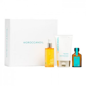 Moroccanoil Nourishing Body Collection Набор: Натуральное 100 % масло арганы 50 мл + Крем для рук 125 мл + Масло для волос 25 мл