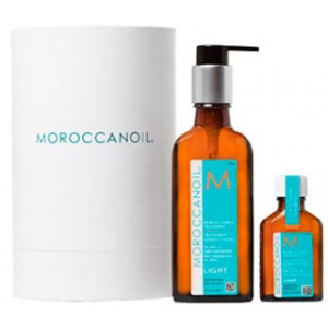 Moroccanoil Oil Light Treatment For Blond or Fine Hair Восстанавливающее и защищающее масло. Набор 100 мл + 25 мл
