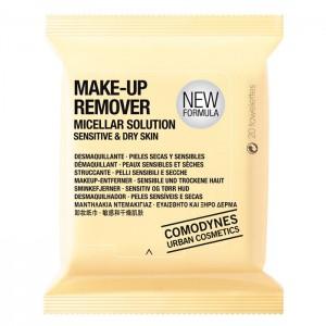 Comodynes Make-Up Remover Micellar Solution Dry Skin Мицеллярные салфетки для снятия макияжа, для сухой кожи