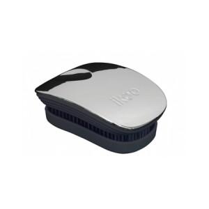 Ikoo Pocket Brush Silver Metallic Edition Black Body Компактная расческа Цвет: Серебристый с черным