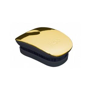 Ikoo Pocket Brush Gold Metallic Edition Black Body Компактная расческа Цвет: Золотой с черным