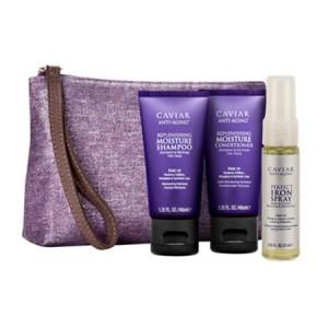 ALTERNA CAVIAR Travel Kit Дорожный набор: Moisture Shampoo+Conditioner+Iron Spray