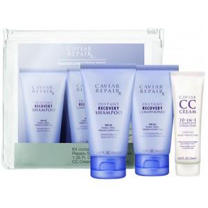 ALTERNA CAVIAR Travel Kit Дорожный набор: Repair RX Shampoo+Conditioner+CC Cream