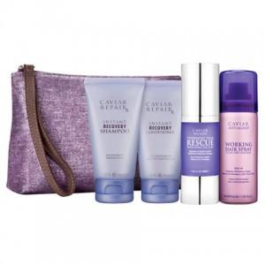 ALTERNA CAVIAR Travel Kit Дорожный набор: Repair RX Shampoo+Conditioner+Spray+Rescue