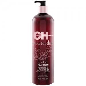 CHI Rose Hip Oil Color Nurture Protecting Conditioner Защитный кондиционер с маслом розы и кератином