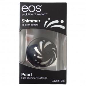EOS Shimmer Lip Balm Pearl Шиммерный бальзам для губ Жемчужный