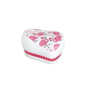 Tangle Teezer COMPACT SkinnyDip Компактная расческа Цвет: Фламинго, бело-розовый