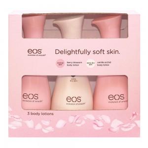 EOS 3 Body Lotion For Normal and Extra Dry Skin Набор из 3-х лосьонов для тела для нормальной и очень сухой кожи