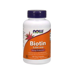 NOW Foods Biotin 5000 mcg Energy Production Биотин 5 мг