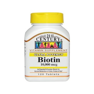 21 st Century Ultra Potency Biotin 10000 mcg Биотин 10 мг ультра сила