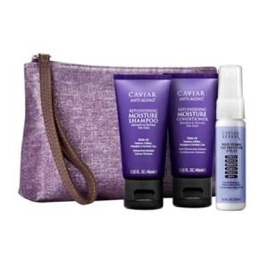 ALTERNA CAVIAR Kit Дорожный набор: Moisture Shampoo + Conditioner + Repair RX Multi-Vitamin