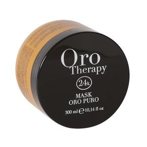 Fanola Oro Therapy Mask Oro Puro Восстанавливающая маска с маслом арганы, сладкого миндаля и микрочастицами золота