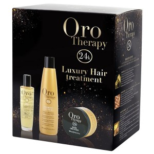"Fanola Oro Therapy Luxury Hair Treatment Oro Puro 3 Set Набор ""Золотая терапия"""