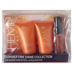 ALTERNA HEMP SHINE Summertime Travel Set Дорожный набор для сияния волос и защиты от солнечных лучей.