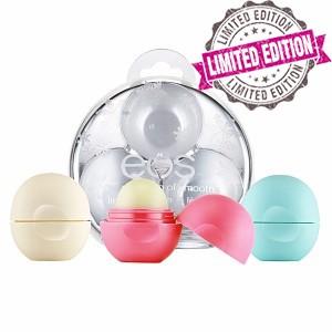 EOS 3 Pack Smooth Holiday Ornament Подарочный набор из 3-x смягчающих и увлажняющих бальзамов для губ