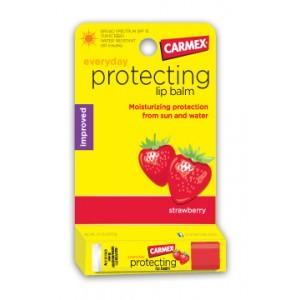 CARMEX Everyday Protecting lip balm Strawberry Ежедневный Клубничный защитный бальзам для губ