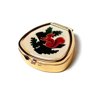 "Andrea Garland Lip Balm Vintage Inspired Pill Box with mirror - Squirrel Бальзам для губ в футляре ""Белка"""