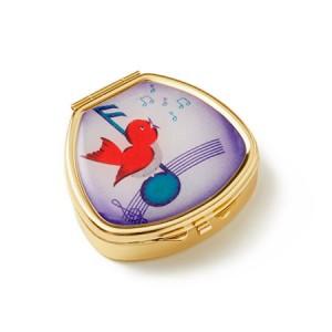 "Andrea Garland Lip Balm Vintage Inspired Pill Box - Gershwin Songbird Бальзам для губ в футляре ""Певчая птичка"""