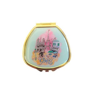 "Andrea Garland Lip Balm in City Scenes Pill Box with mirror – Paris Бальзам для губ в футляре ""Париж"""