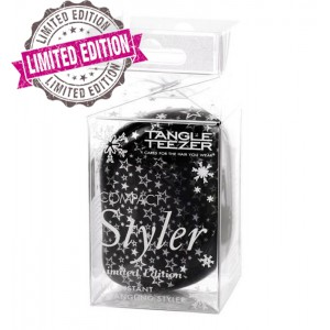 Tangle Teezer COMPACT Twinkle Компактная расческа Цвет: Черный со звездами