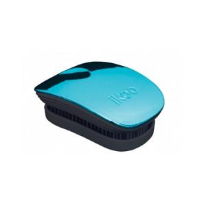 Ikoo Pocket Brush Turquoise Metallic Edition Black Body Компактная расческа Цвет: Бирюзовый с черным