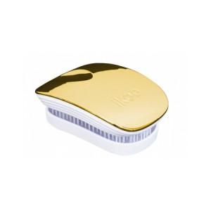 Ikoo Pocket Brush Gold Metallic Edition White Body Компактная расческа Цвет: Золотой с белым