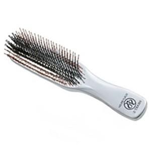 S-Heart-S Scalp Brush Professional Long 572 Профессиональная длинная расческа со сдвоенными щетинками Цвет: Серебряный