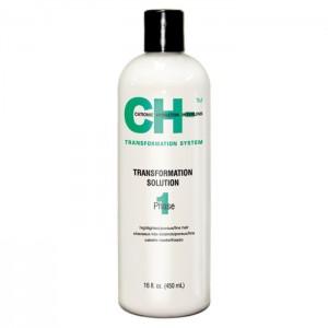 CHI Transformation Solution System Phase 1 Green Выпрямляющая жидкость для окрашенных или химически обработанных волос 450 мл