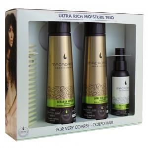 Macadamia Natural Oil Professional Ultra Rich Moisture Trio With Comb Набор для сухих и поврежденных волос
