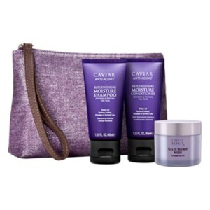 ALTERNA CAVIAR Travel Kit Дорожный набор: Moisture Shampoo+Conditioner+Repair RX Masque