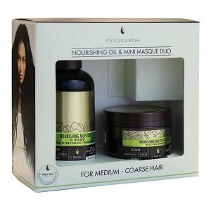 Macadamia Professional NOURISHING MOISTURE Oil & Mini Masque Duo Набор: Питательное увлажняющее масло, 125 мл + маска 60 мл