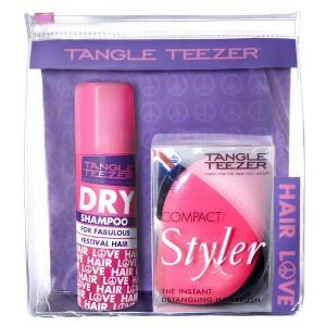 Tangle Teezer COMPACT Festival Pack Набор: Сухой шампунь + Компактная расческа Цвет: Розовый