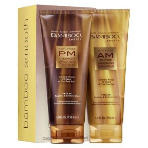 ALTERNA BAMBOO SMOOTH Anti-Frizz AM/PM Starter Kit Набор: Дневной+ночной разглаживающий бальзам для волос