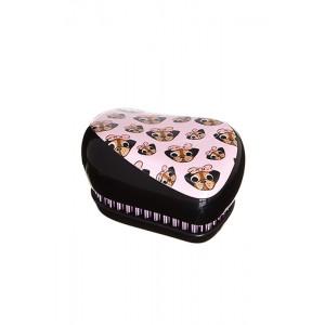 Tangle Teezer COMPACT Pug Love Компактная расческа Цвет: Мопс, розовый