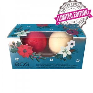 EOS 2 Pack Holiday 2016 Lip Baim Limited Edition Набор состоит из 2-х смягчающих и увлажняющих бальзамов