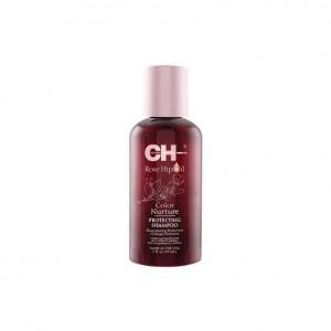 CHI Rose Hip Oil Color Nurture Protecting Shampoo Защитный шампунь с маслом розы и кератином