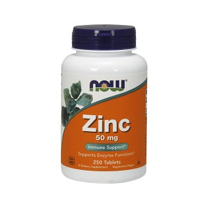 NOW Foods Zinc 50 mg Immune Support Цинк 50 мг