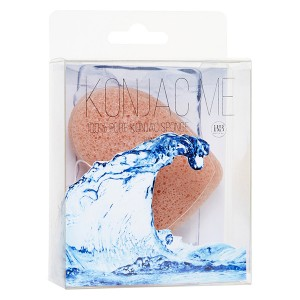 Beauty Bar Konjac Me 100% Pure Konjac Sponge With Nourishing Mineral Rich Pink Clay Конжаковый спонж с розовой глиной