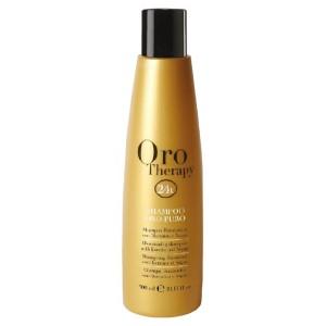 Fanola Oro Therapy Shampoo Oro Puro Увлажняющий шампунь с маслом арганы, сладкого миндаля и микрочастицами золота