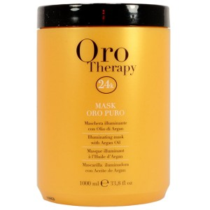 Fanola Oro Therapy Mask Oro Puro Восстанавливающая маска с маслом арганы, сладкого миндаля и микрочастицами золота 1 л