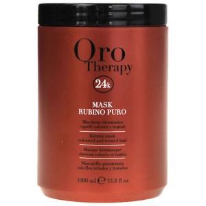 Fanola Oro Therapy Mask Rubino Puro Рубиновая маска с кератином для окрашенных волос