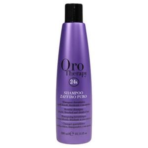 Fanola Oro Therapy Shampoo Zaffiro Puro Сапфировый шампунь с кератином для светлых волос 300 мл