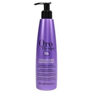 Fanola Oro Therapy Conditioner Zaffiro Puro Сапфировый кондиционер с кератином для светлых волос 300 мл