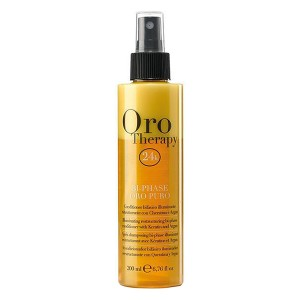 Fanola Oro Therapy Bi-Phase Oro Puro Восстанавливающий двухфазный спрей-кондиционер с кератином