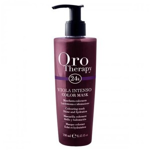 "Fanola Oro Therapy Viola Intenso Color Mask Тонирующая маска для волос ""Фиолетовая"" 250 мл"