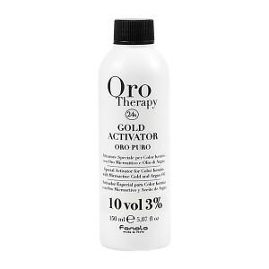 Fanola Oro Therapy Gold Activator Oro Puro 10 Vol 3% Окислитель с микрочастицами золота 3% 150 мл