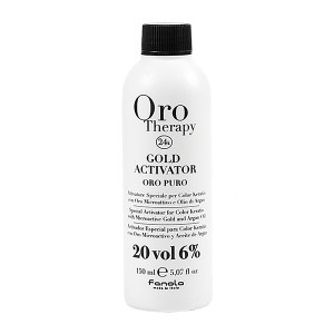Fanola Oro Therapy Gold Activator Oro Puro 20 Vol 6% Окислитель с микрочастицами золота 6% 150 мл