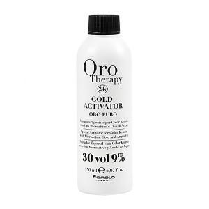 Fanola Oro Therapy Gold Activator Oro Puro 30 Vol 9% Окислитель с микрочастицами золота 9% 150 мл